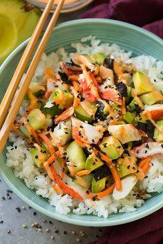 Roll Sushi Bowls California Roll Sushi Bowls Recipe on Yummly. Roll Sushi Bowls Recipe on Yummly. Sushi Recipes, Seafood Recipes, Asian Recipes, Vegetarian Recipes, Dinner Recipes, Cooking Recipes, Healthy Recipes, Salmon Recipes, Cooking Games