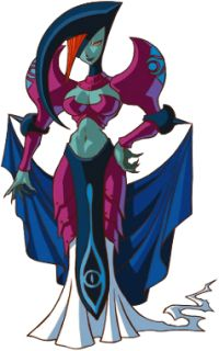 Veran is the antagonist of Oracle of Ages. She is the Sorceress of Shadows[1] and has the ability to possess anybody she wishes. Although she appears to be the ultimate evil, Veran is nothing more than a loyal servant to Twinrova, dedicated to bringing about the Dark Lor