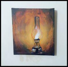 Chirag/Diya/Lamp Acrylic Painting