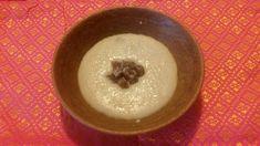 Harleian MS 279 (~1430) - Bruet of Almaynne in lente- Rice and almond milk porridge, sweetened with dates.  #stdunstans