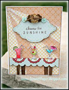 DeNami Sunshine Tropical Drinks card by @Jennifer Harris