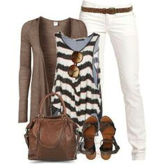 Early summer clothes. LOVE! Wouldn't do the jacket, though.