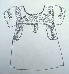 Sewing embroidery placement for Mexican peasant blouse Embroidery Patterns Free, Embroidery Patches, Hand Embroidery Designs, Machine Embroidery, Blouse Patterns, Clothing Patterns, Sewing Patterns, Skirt Patterns, Coat Patterns