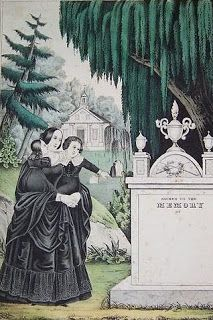 Mourning lithograph.