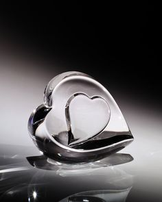 """Steuben Glass """"Heart of My Heart"""" ...*I carry your heart, I carry it in my heart...*"""