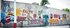 Joplin Hope Mural spread a message of hope after the May 22 tornado.  Artists: AJ Alejandro and Jim Bilgere.