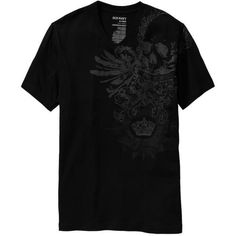 Old Navy Mens Heraldic Skull Graphic Tee Shirt ($9.97) ❤ liked on Polyvore featuring men's fashion, men's clothing, men's shirts, men's t-shirts, men, mens v neck shirts, mens jersey t shirt, mens fitted shirts, mens vneck shirts and old navy mens shirts