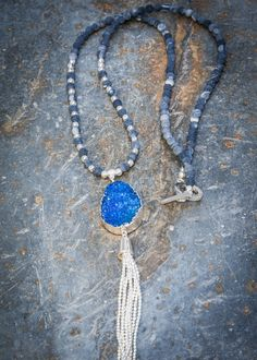 Pranella Effie Blue Necklace