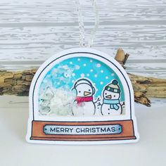 "I think I said ""Gosh, this is so cute"" about 15 times, while I made this. 😂 Thank you, @lawnfawn, for bringing so much joy to our crafting tables! 💕💕 #lawnfawn #snowglobe #christmastag #copiccoloringforcardmakers #copics #merrychristmas #fakesnow #dekoschnee #prettypinkposh #stamping #basteln #diy #stanzen #folie #upcycling"