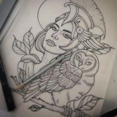For next week hopefully! #athena #tattoo #drawing #sketch