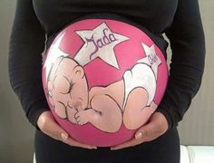 ▷ 1001 + Ideen und Bilder zum Thema Babybauch bemalen Baby belly shooting dress, a pregnant woman with a pink big and painted baby belly with white stars and a sleeping baby with a bow Pregnancy Facts, Healthy Pregnancy Tips, Trouble Getting Pregnant, Pregnant Belly Painting, Belly Art, Pregnancy Calculator, Baby Belly, Baby Shower Gender Reveal, Fertility Calculator