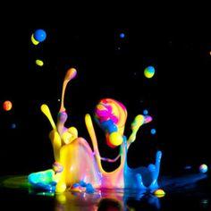 Rainbow Paint Splash by Patrick Latter, Splash Photography, Hiking Photography, Abstract Photography, Color Photography, Photography Photos, Paint Splash, Color Splash, Paint Drop, Rainbow Painting