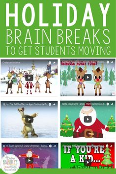 Try these fun, interactive holiday brain breaks to incorporate movement, music, and fun into your elementary classroom instruction! These brain breaks are PERFECT for classroom instruction or distance learning. Your students will LOVE dancing to holiday music while staying active and engaged throughout the school day! Classroom Fun, Classroom Activities, Favorite Holiday, Holiday Fun, Christmas World, Learning Resources, Teacher Resources, Teaching Ideas, Christmas Activities For Kids