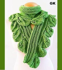 Looking for your next project? You're going to love Scarf Greenleaf Hand knit by designer Giezen Knitting.