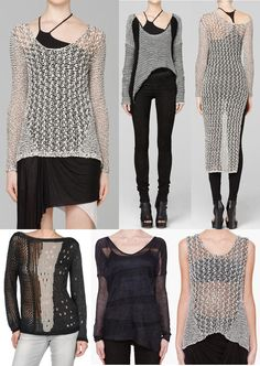 HELMUT LANG, MISS SIXTY SPIDERY SWEATERS