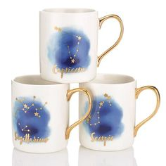 Zodiac Mug | Take all your sips with the stellar cup sent from the stars that showcases your individual zodiac sign. ~ Avon Rep Beth Bailey ~ Avon eStore LipstickShoesAndMore.com