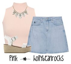 """""""PINK   hollybeanrocks"""" by hollybeanrocks ❤ liked on Polyvore featuring WearAll, AG Adriano Goldschmied, ABS by Allen Schwartz and Steve Madden"""