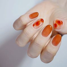 What manicure for what kind of nails? - My Nails Cute Nails, Pretty Nails, My Nails, Orange Nail Designs, Cute Nail Designs, Orange Nail Art, Privates Nagelstudio, Nail Design Glitter, Nails Design