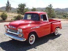 pick ups #trucks Vintage Pickup Trucks, Classic Pickup Trucks, Antique Trucks, Vintage Cars, Gm Trucks, Cool Trucks, Chevy Apache, Chevy Pickups, Chevrolet Trucks