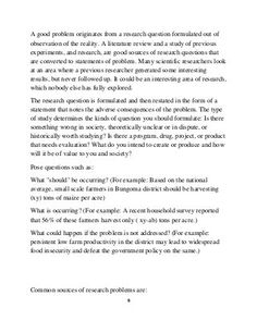 How to write a statement problem Writing A Thesis Statement, Problem Statement