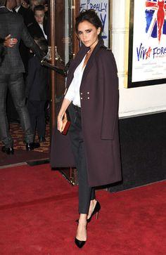 Le look de Victoria Beckham en décembre 2012  © Abaca