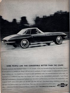 1964 Corvette ad, scanned from December 1963 Road & Track