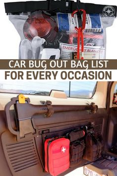 Car Bug Out Bag List For Every Occasion : Car Bug Out Bag List For Every Occasion - This article offers an interesting solution to the issue of bugging out from the car or the work place. Its all about car bugout bag list options for every occasion. Emergency Preparedness Kit, Emergency Survival Kit, Survival Tools, Wilderness Survival, Camping Survival, Outdoor Survival, Survival Knife, Survival Prepping, Survival Supplies