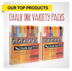 chalk ink wet wipe markers-chalkboard silhouette vinyl + vinyl signs