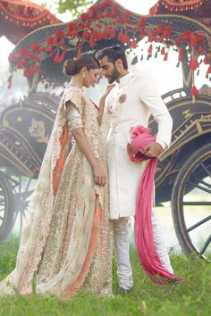 Designer: The Jasmine Court by ElanPhotographer: Abdullah HarrisModels: Rabia Butt & Hasnain Lehri. Pinned by Zartashia