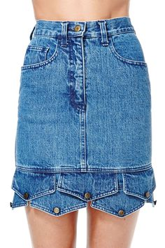 Vintage Moschino Pocket Change Skirt | Shop Vintage at Nasty Gal