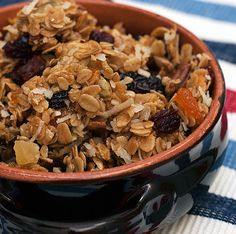 homemade granola with nuts, seeds and dried fruit @ the orgasmic chef
