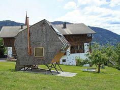 Tiny mountain cabin retreat on stilts