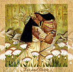 The Egyptian mythology of Isis and Osiris