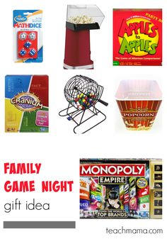 family game night gift idea --> SO FUN for the holiday. love this.
