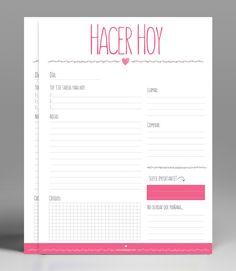 Planificador diario para imprimir GRATIS! Diseñado en A4 a color.                                                                                                                                                                                 Más