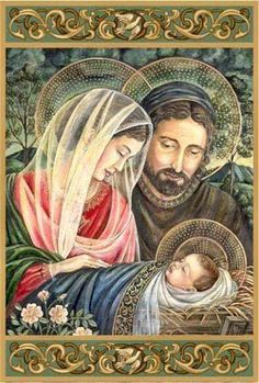 The Holy Family Christmas Cards Family Christmas Cards, Christmas Nativity, Christmas Pictures, Religious Pictures, Jesus Pictures, Catholic Art, Religious Art, Illustration Noel, Blessed Mother Mary