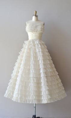 1950s wedding dress / vintage 50s dress / Layer Cake by DearGolden, $885.00