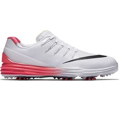 New 2016 Mens Nike Lunar Control 4 Golf Shoes White Red Black- Any Wide Size! #white #black #wide #size #shoes #golf #nike #lunar #control #mens
