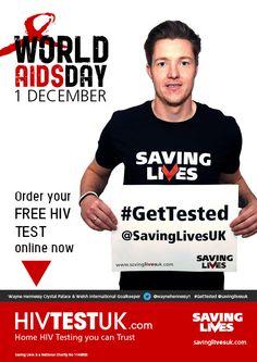 Thanks to @WayneHenessey1  of @CPFC for supporting the @savinglivesuk #worldAIDSday #StopTheStigma campaign www.savinglivesuk.com and www.HIVTestUK.com