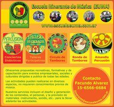 Escuela Itinerante de Música EUMA    Propuestas educativas y Recreativas para Escuelas, Empresas, ONGs.    http://www.escuelaeuma.com.ar