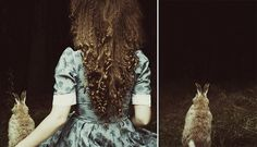 Alice in Wonderland. by laura makabresku, via Flickr  The only thing about this is the rabbit,(poor thing), looks stuffed.