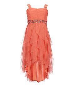 Tween Diva 716 Ruched Cascade Dress #Dillards