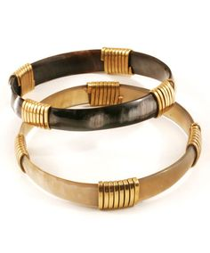 Fair Trade Stackable Horn and Brass Bangle