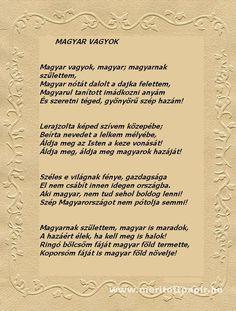 Hazaszeretet .... Pósa Lajos : Magyar vagyok Hungary History, Family Roots, My Heritage, Budapest, 1, Culture, Feelings, My Love