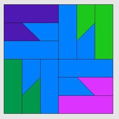See related links to what you are looking for. Paper Piecing Patterns, Quilt Block Patterns, Pattern Blocks, Quilt Blocks, Cute Quilts, Small Quilts, Easy Quilts, Geometric Quilt, Geometric Pattern Design