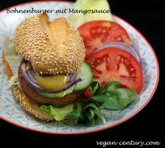 Chili-Bohnenburger mit Mangosauce