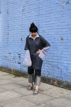 Tunic over oversized shirt | Sartorial Denim  |   Style Bubble