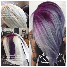 @isaac4mayor is letting us in on his #hautehues secrets with this #purplehair #shadowroot tutorial using @joico intentnsities and @kenra 🙌🏻 Thank you for sharing ✨ #cosmoprofbeauty is proud to support those who are #licensedtocreate ✨ #tutorial #hairtutorial #transformation #joico #joi #kenra