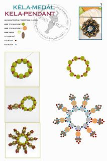 Ewa gyöngyös világa!: Kéla medál minta / Kela pendant pattern