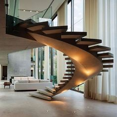 20 Best Outdoor Spiral Staircase Modern and Contemporary Stairs Architecture, Interior Architecture, Escalier Art, Beautiful Stairs, Modern Stairs, Staircase Design Modern, Interior Stairs, House Stairs, Design Room